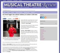 Eve Ferret - Musical Theatre Review 30 April 2015
